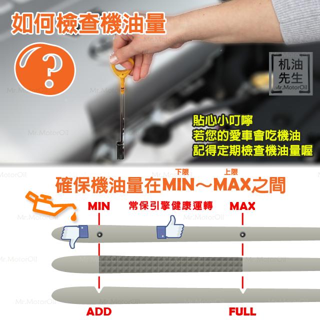 【問題-機油尺】7如何檢查機油量-汽車