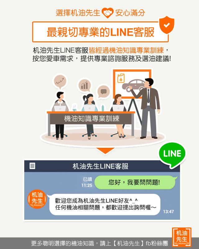 7【選擇机油先生安心滿分】最親切專業的LINE客服